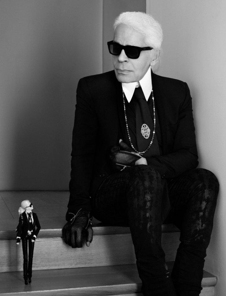 La Barbie junto a Karl Lagerfeld / Mattel