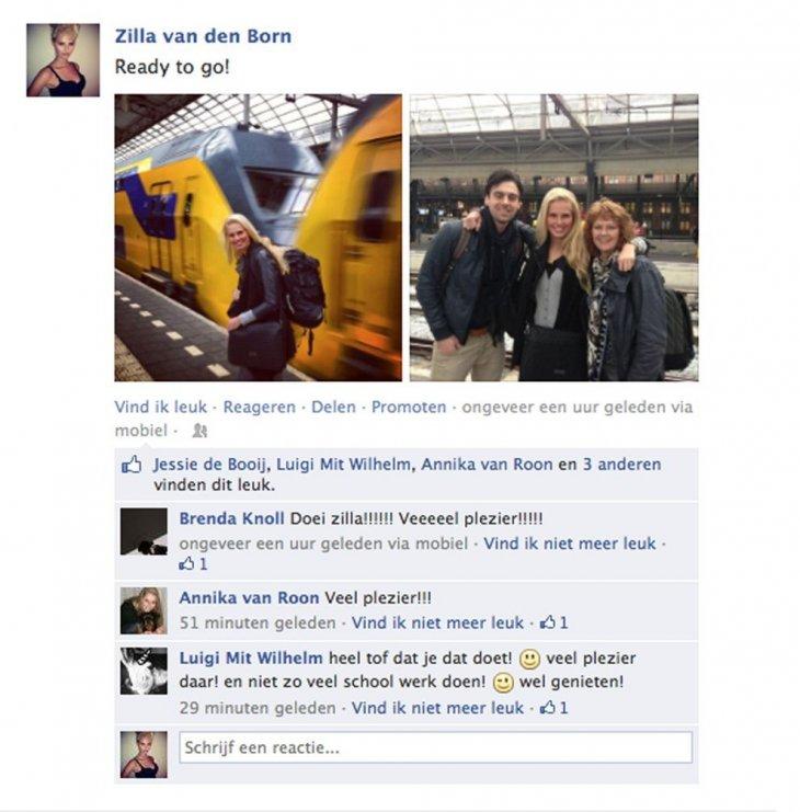Captura su despedida en Facebook para irse de viaje