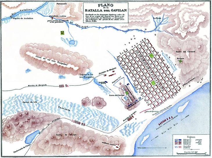 Plano Histórico de la Batalla de Gavilán
