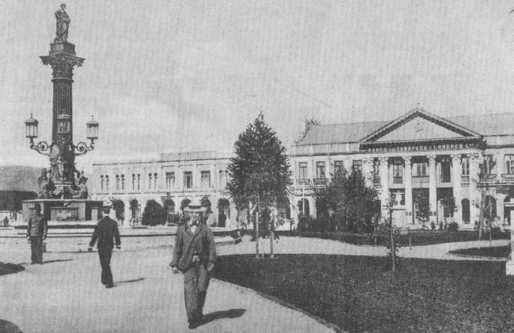 Plaza Independencia de Concepción en 1910