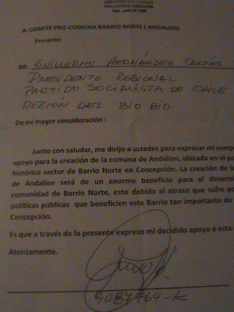 Pro-Ciudad Andalien (Facebook)