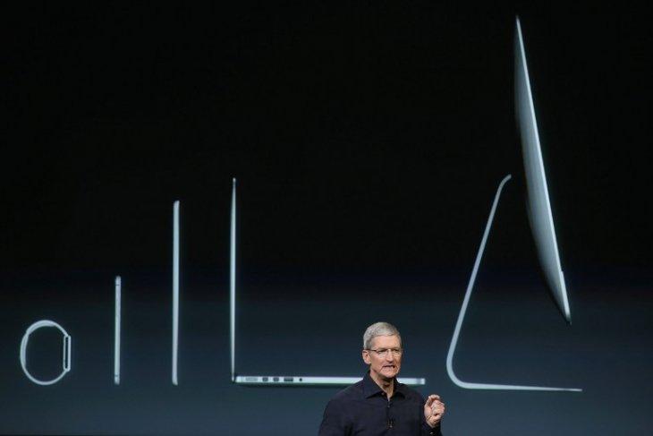 CEO de Apple, Tim Cook y comparativa de espesor de equipos actuales | AFP