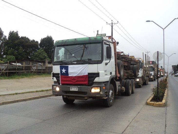 Manifestación en Angol | Vladimir Sáez (RBB)