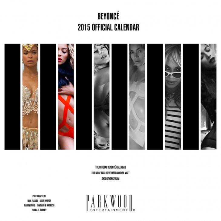 Calendario Beyoncé 2015
