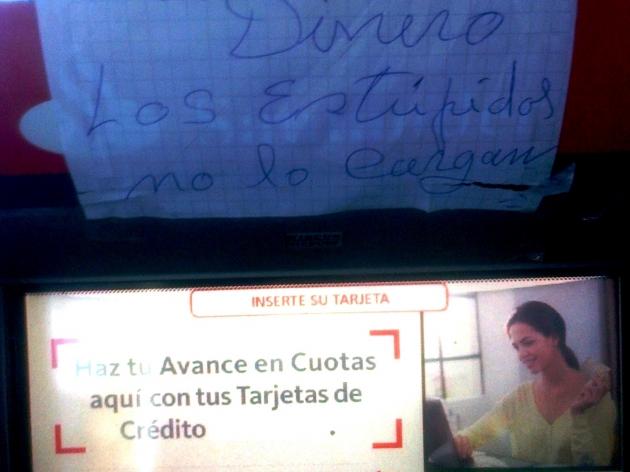 Cajero sin dinero | Sergio Luis B.