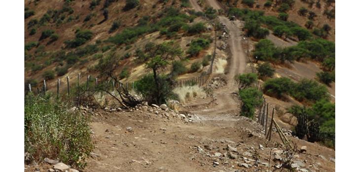 Detalle del camino desde la Torre Norte del Pucará. Foto: Alexis López Tapia