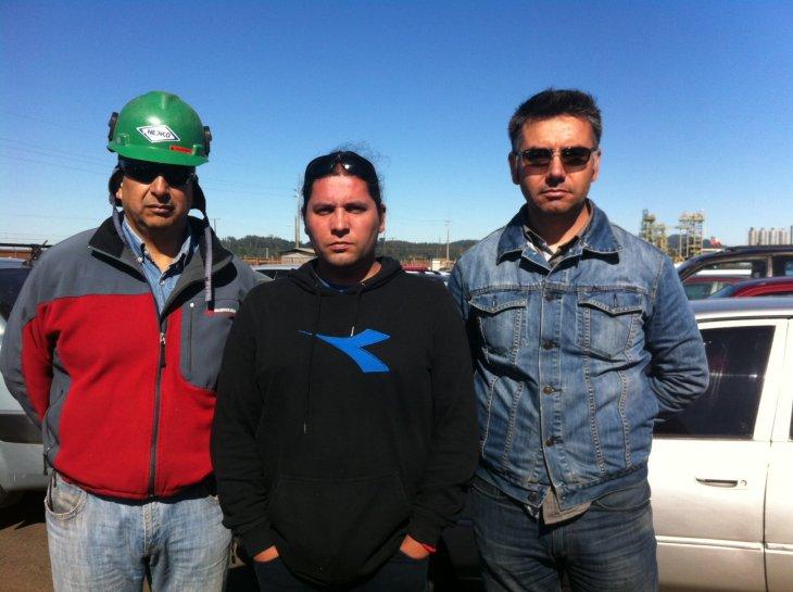 Leonardo Rojas (centro) y Cristian Bustos (der)