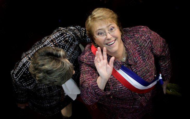 Bachelet relajada tras su discurso del 21 de mayo en el Congreso | Rodrigo Saenz | Agencia UNO