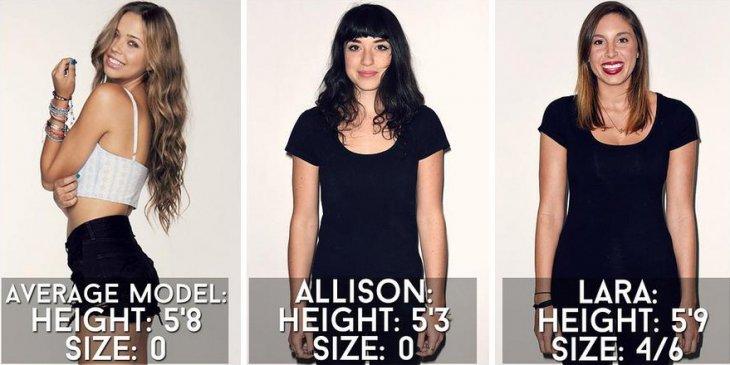 """Cómo luce una """"talla estándar"""" en distintos tipos de cuerpo  29f8464a239f"""
