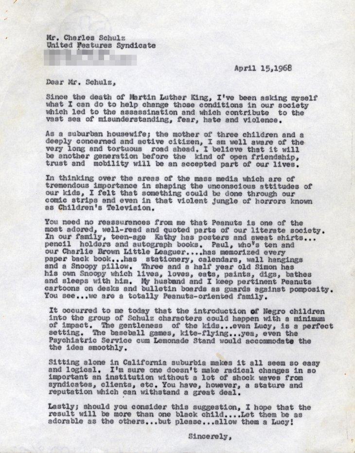 Primera carta de Harriet Glickman