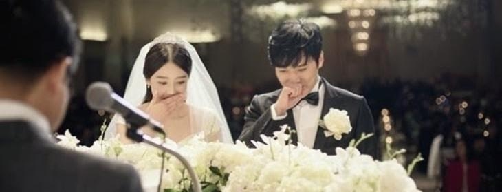 Sungmin y Kim Saeun en su boda