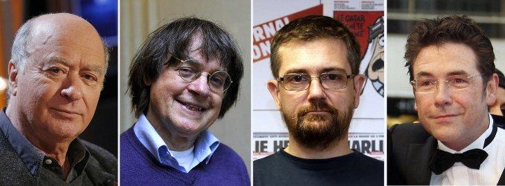 Charb, Cabu, Wolinski y Tignous | AFP