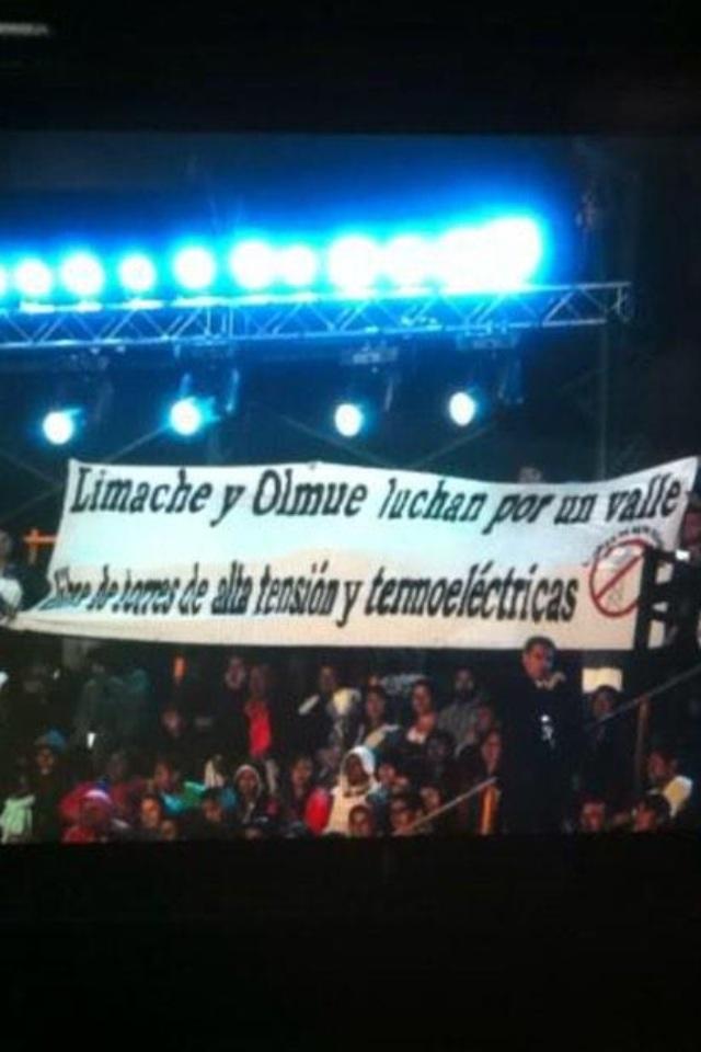 Lienzo mostrado en Festival de Olmué