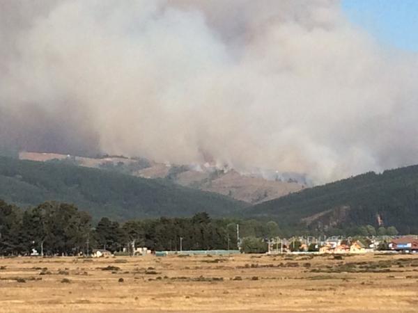 Incendio desde bypass de Coronel | @Alvarock_246
