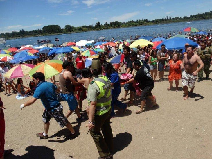 La víctima fue trasladada hasta el Cesfam de Quillón | Guillermo Escares (RBB)