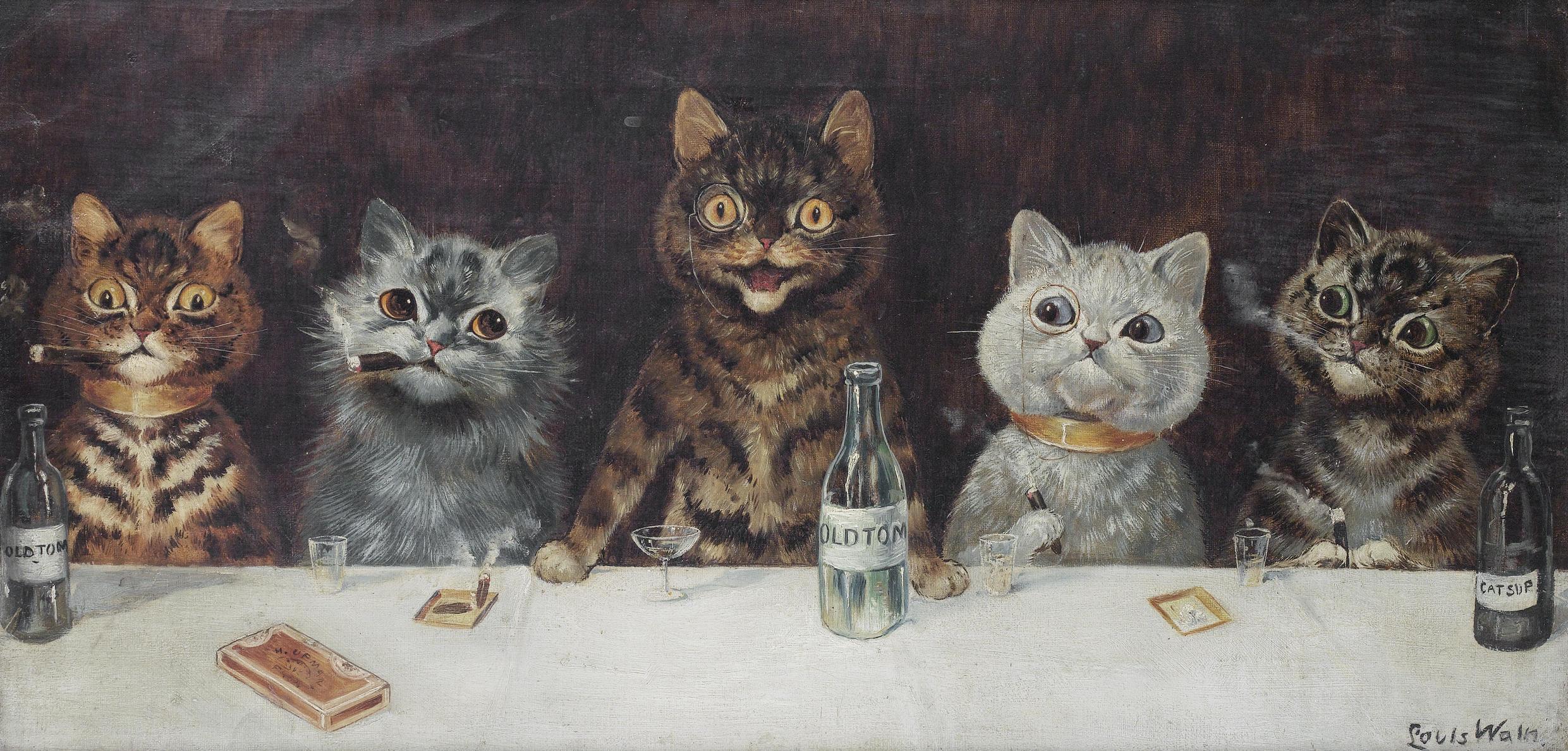 Louis Wain: Las tétricas pinturas de gatos de un artista ...