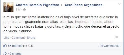 Aerolíneas Argentina |Facebook