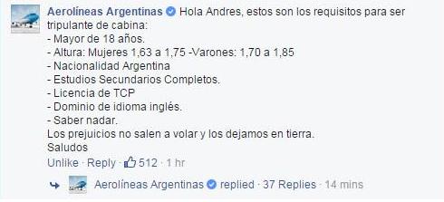 Aerolíneas Argentina | Facebook