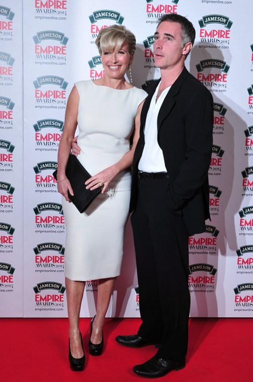 Emma Thompson junto a su esposo Greg Wise / AFP Photo