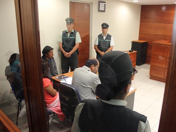 Audiencia de formalización de los sospechosos / Gentileza DPP