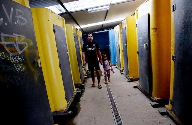 Baños del Campamento San Juan | Maribel Fornerod | Agencia UNO