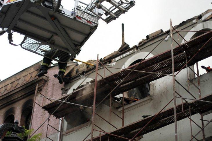 Incendio en Barrio Yungay | Alvaro Cofre | Agencia UNO