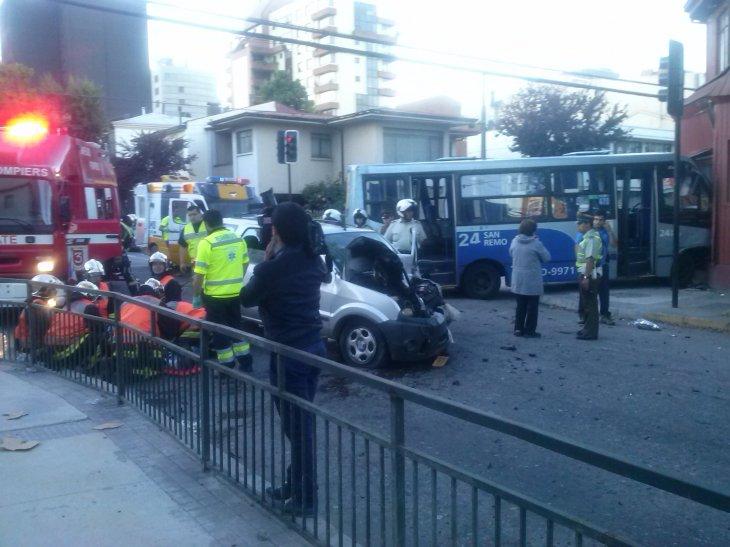 Accidente en el centro de Concepción | Eliana Véjar (RBB)