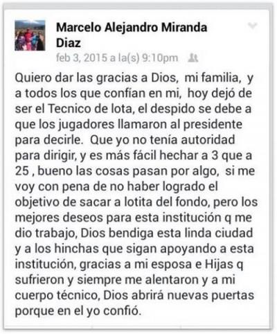 Facebook Marcelo Miranda