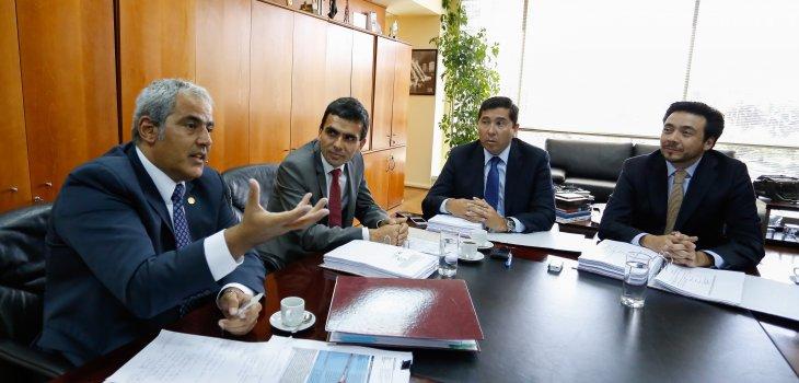 De Izquierda a Derecha: Sabas Chahuán, Carlos Gajardo, Pablo Norambuena, Emiliano Arias