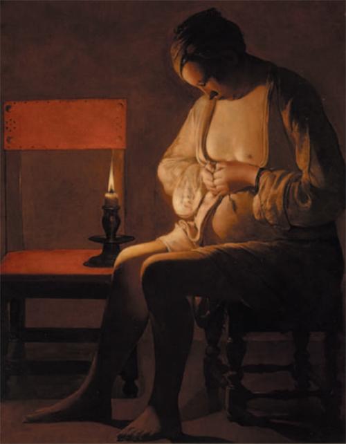 La mujer con la pulga (1638) | Georges de La Tour | Museo Lorrain