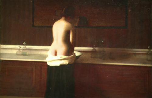 Joven en su baño (1898) |  Eugène Lomont | Musée Départemental de l'Oise