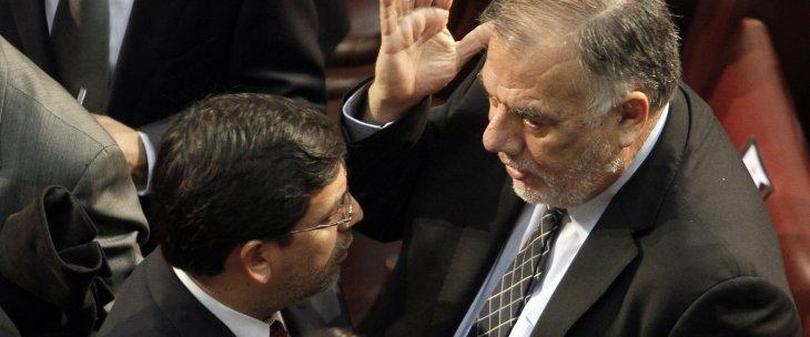 Ministro Aberto Arenas y diputado Osvaldo Andrade