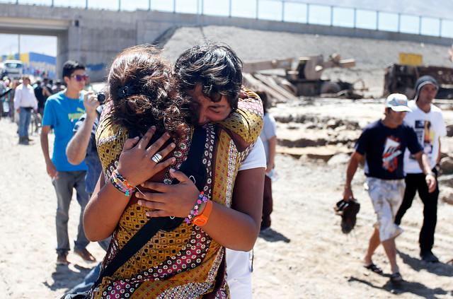 Una hija y su madre se reencuentran tras la apertura de 5 minutos del camino separado por el aluvión