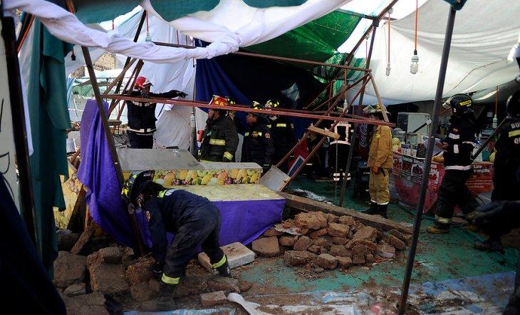 Derrumbe de muro en Quillota | Pablo Ovalle | Agencia UNO