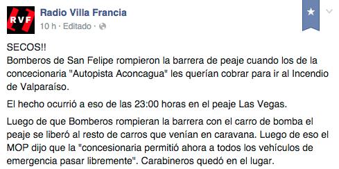 Facebook Radio Villa Francia