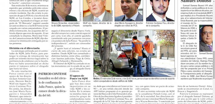 Personal retirando computadores de SQM | Diario El Mercurio