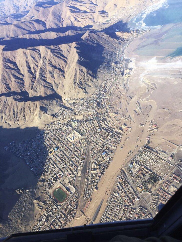 Aumento del caudal en la desembocadura del río en el mar en Chañaral | FACh