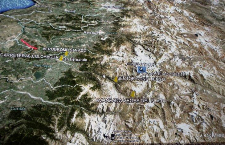 Mapa de operativo de rescate | Luis Ruz | (RBB)