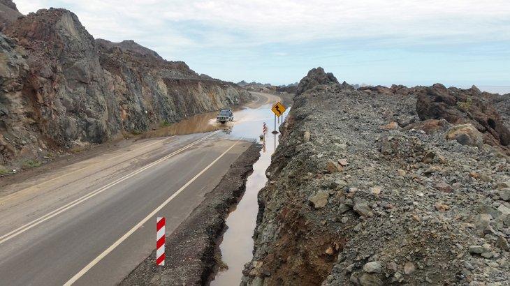 Acumulación de agua en rutas | Seremi Obras Públicas Antofagasta