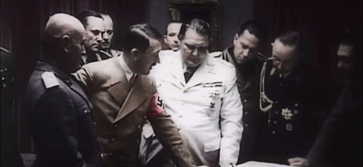 Mussolini, Hitler y Goering