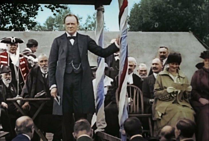 Winston Churchill durante la Primera Guerra Mundial