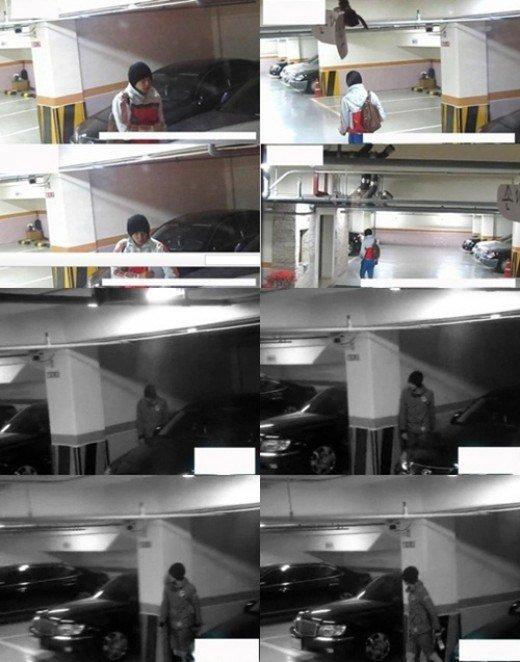 Park Yoochun siendo espiado en estacionamiento | www.nate.com