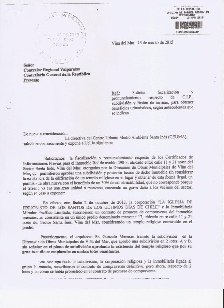 Denuncia Ceuma en Contraloría | Felipe Trejo | (RBB)