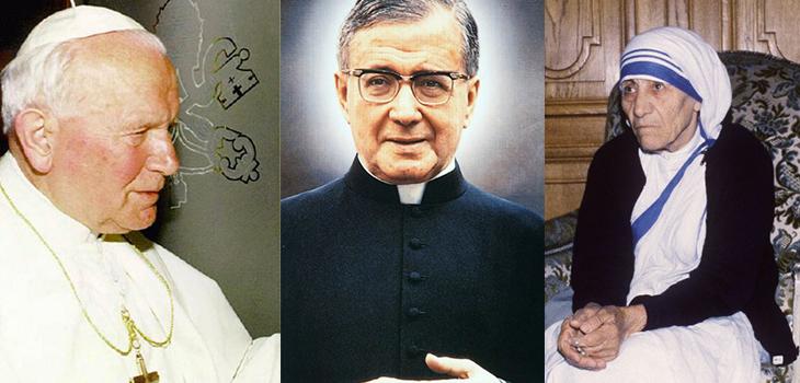 Juan Pablo II, Escrivá de Balaguer, Teresa de Calcuta | AFP