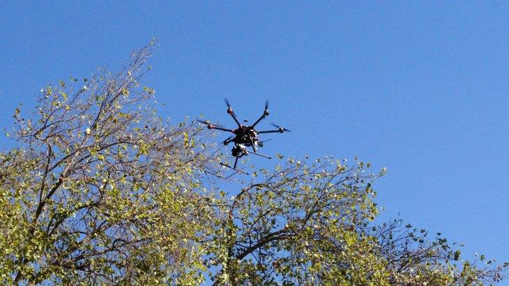 Drone de muestra de X-Cam | Eduardo Woo / BBCL