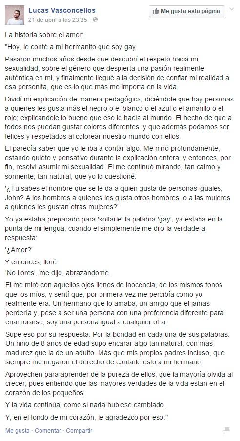 Lucas Vasconcellos en Facebook