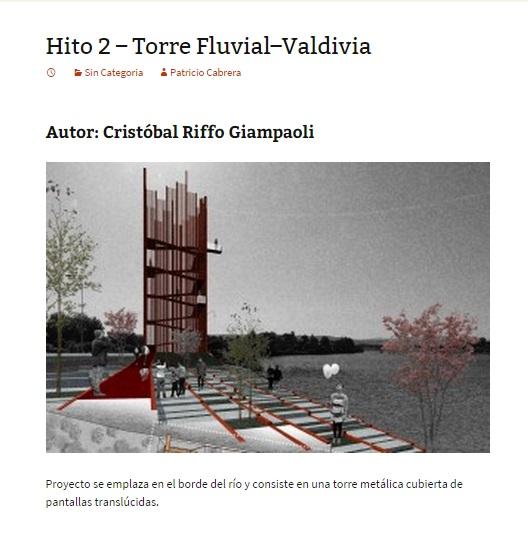 Hito 2 - Torre Fluvial–Valdivia