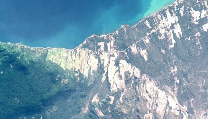 Imagen satelital de Ensenada
