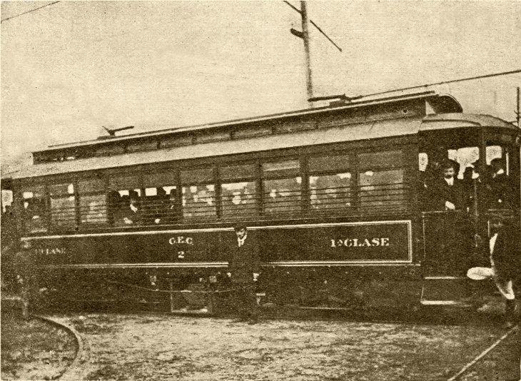 Primer viaje tranvía a Talcahuano | Carretas, Carros de Sangre y Tranvías en Concepción