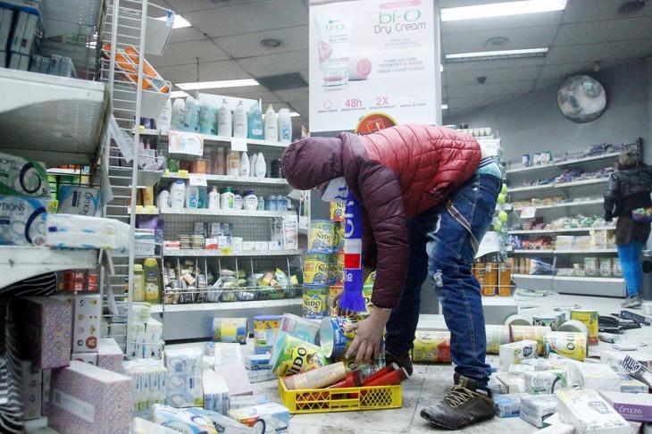 Saqueo a Farmacias Ahumada | Rodrigo Sáenz | Agencia Uno
